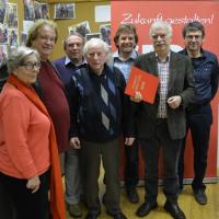 v.l.n.r. Ingeborg Simon, Fritz Müller, Norbert Geyer, Karl Seitz, Hans-Jörg Seidl, Gisbert Falke, Horst Bittel